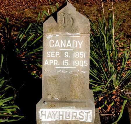 HAYHURST, CANADY - Carroll County, Arkansas | CANADY HAYHURST - Arkansas Gravestone Photos