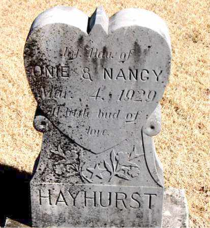 HAYHURST, INFANT DAUGHTER - Carroll County, Arkansas | INFANT DAUGHTER HAYHURST - Arkansas Gravestone Photos