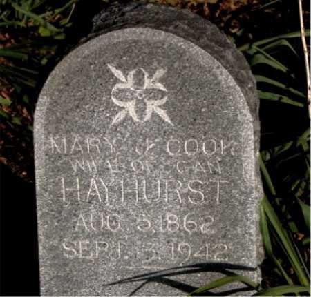 HAYHURST, MARY J. - Carroll County, Arkansas | MARY J. HAYHURST - Arkansas Gravestone Photos