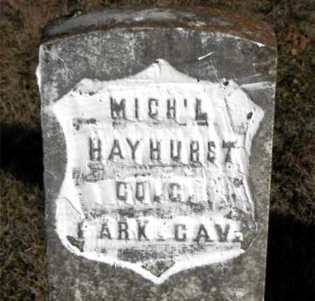 HAYHURST  (VETERAN UNION), MICHAEL - Carroll County, Arkansas | MICHAEL HAYHURST  (VETERAN UNION) - Arkansas Gravestone Photos