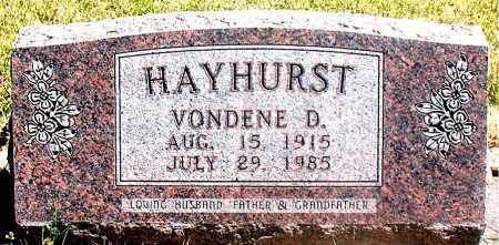 HAYHURST, VONDENE D. - Carroll County, Arkansas | VONDENE D. HAYHURST - Arkansas Gravestone Photos