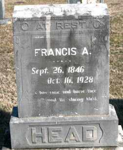 HEAD, FRANCIS A - Carroll County, Arkansas | FRANCIS A HEAD - Arkansas Gravestone Photos