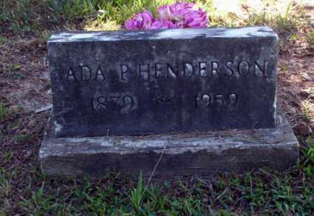 HENDERSON, ADA P - Carroll County, Arkansas   ADA P HENDERSON - Arkansas Gravestone Photos