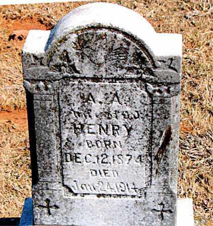 HENRY, A. A. - Carroll County, Arkansas   A. A. HENRY - Arkansas Gravestone Photos