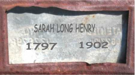 LONG HENRY, SARAH - Carroll County, Arkansas | SARAH LONG HENRY - Arkansas Gravestone Photos