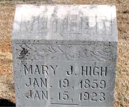 HIGH, MARY J. - Carroll County, Arkansas | MARY J. HIGH - Arkansas Gravestone Photos