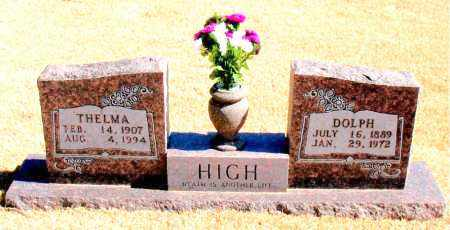 HIGH, THELMA - Carroll County, Arkansas | THELMA HIGH - Arkansas Gravestone Photos