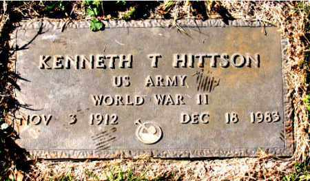 HITTSON (VETERAN WWII), KENNETH T. - Carroll County, Arkansas | KENNETH T. HITTSON (VETERAN WWII) - Arkansas Gravestone Photos