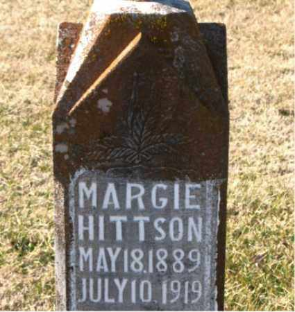 HITTSON, MARGIE - Carroll County, Arkansas | MARGIE HITTSON - Arkansas Gravestone Photos