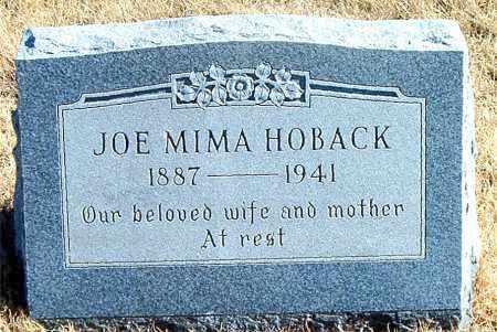 HOBACK, JOE MIMA - Carroll County, Arkansas | JOE MIMA HOBACK - Arkansas Gravestone Photos