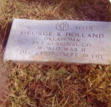 HOLLAND (VETERAN WWII), GEORGE KEITH - Carroll County, Arkansas | GEORGE KEITH HOLLAND (VETERAN WWII) - Arkansas Gravestone Photos