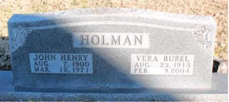 HOLMAN, VERA BUREL - Carroll County, Arkansas | VERA BUREL HOLMAN - Arkansas Gravestone Photos