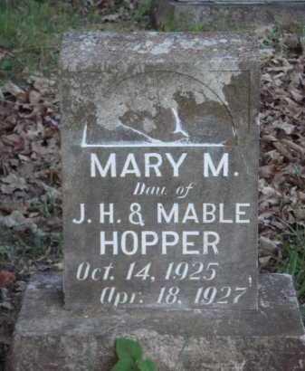HOPPER, MARY M. - Carroll County, Arkansas | MARY M. HOPPER - Arkansas Gravestone Photos