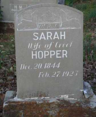 HOPPER, SARAH - Carroll County, Arkansas | SARAH HOPPER - Arkansas Gravestone Photos