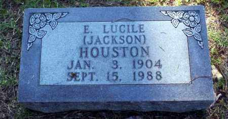 JACKSON HOUSTON, E LUCILE - Carroll County, Arkansas | E LUCILE JACKSON HOUSTON - Arkansas Gravestone Photos