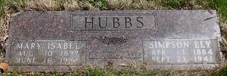HUBBS, MARY ISABEL - Carroll County, Arkansas | MARY ISABEL HUBBS - Arkansas Gravestone Photos