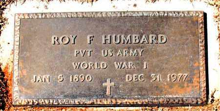 HUMBARD (VETERAN WWI), ROY F - Carroll County, Arkansas | ROY F HUMBARD (VETERAN WWI) - Arkansas Gravestone Photos