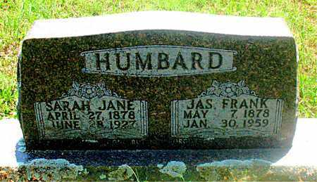 HUMBARD, JAS FRANK - Carroll County, Arkansas | JAS FRANK HUMBARD - Arkansas Gravestone Photos