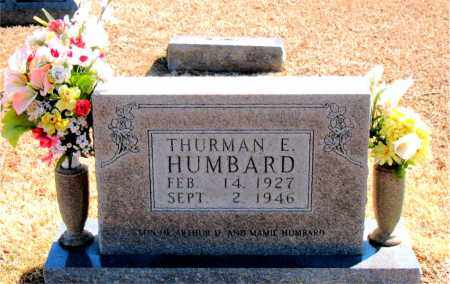 HUMBARD, THURMAN E. - Carroll County, Arkansas | THURMAN E. HUMBARD - Arkansas Gravestone Photos