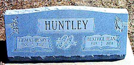 HUNTLEY, BEATRICE JEAN - Carroll County, Arkansas | BEATRICE JEAN HUNTLEY - Arkansas Gravestone Photos