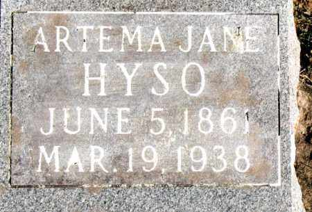 HYSO, ARTEMA  JANE - Carroll County, Arkansas | ARTEMA  JANE HYSO - Arkansas Gravestone Photos