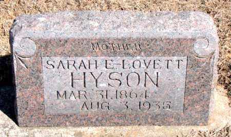 HYSON, SARAH E. - Carroll County, Arkansas | SARAH E. HYSON - Arkansas Gravestone Photos