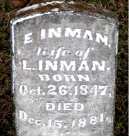 INMAN, E - Carroll County, Arkansas | E INMAN - Arkansas Gravestone Photos