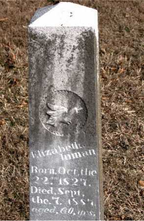 INMAN, ELIZABETH - Carroll County, Arkansas | ELIZABETH INMAN - Arkansas Gravestone Photos