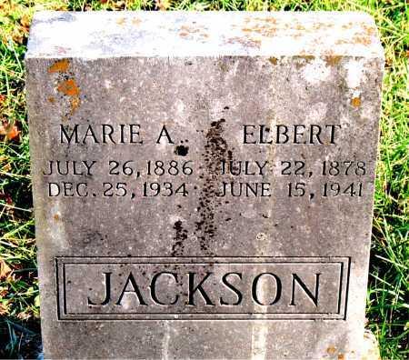 JACKSON, ELBERT - Carroll County, Arkansas | ELBERT JACKSON - Arkansas Gravestone Photos