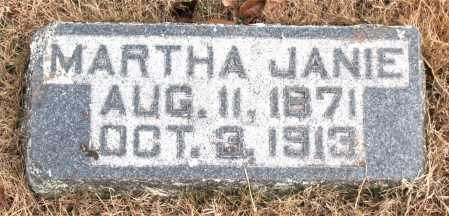 JANIE, MARTHA - Carroll County, Arkansas | MARTHA JANIE - Arkansas Gravestone Photos