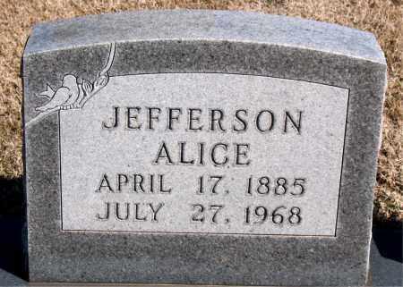 JEFFERSON, ALICE - Carroll County, Arkansas   ALICE JEFFERSON - Arkansas Gravestone Photos