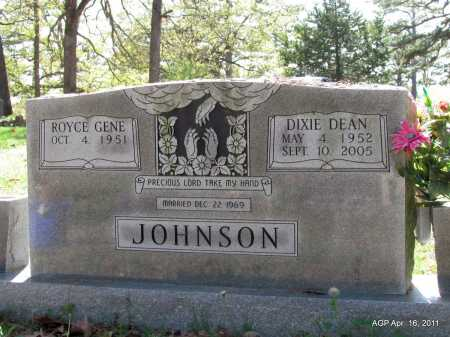 JOHNSON, DIXIE DEAN - Carroll County, Arkansas | DIXIE DEAN JOHNSON - Arkansas Gravestone Photos