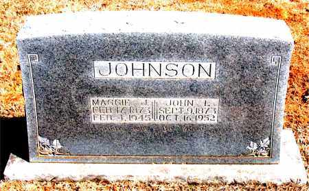 JOHNSON, MAGGIE J. - Carroll County, Arkansas | MAGGIE J. JOHNSON - Arkansas Gravestone Photos