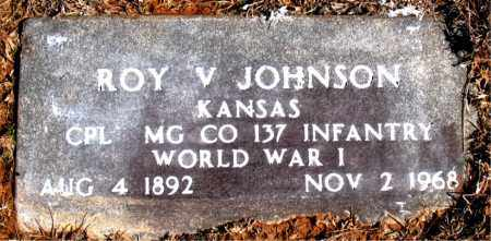 JOHNSON (VETERAN WWI), ROY V - Carroll County, Arkansas | ROY V JOHNSON (VETERAN WWI) - Arkansas Gravestone Photos