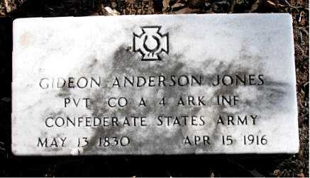 JONES  (VETERAN CSA), GIDEON ANDERSON - Carroll County, Arkansas | GIDEON ANDERSON JONES  (VETERAN CSA) - Arkansas Gravestone Photos