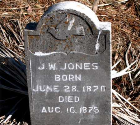 JONES, J.  W. - Carroll County, Arkansas | J.  W. JONES - Arkansas Gravestone Photos