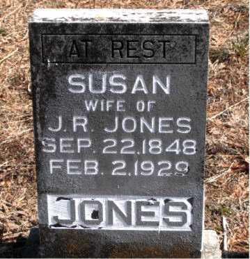 JONES, SUSAN - Carroll County, Arkansas | SUSAN JONES - Arkansas Gravestone Photos