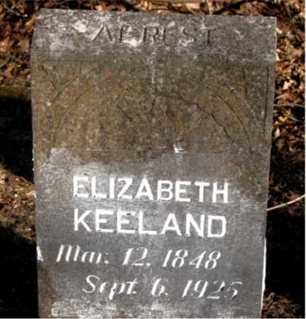 KEELAND, ELIZABETH - Carroll County, Arkansas | ELIZABETH KEELAND - Arkansas Gravestone Photos