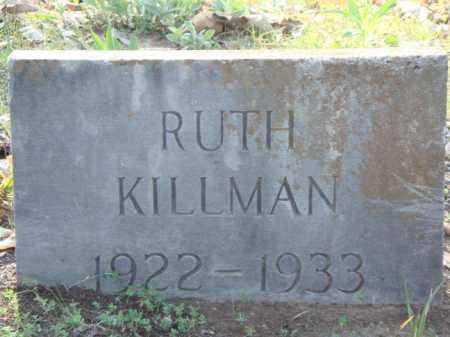 KILLMAN, RUTH - Carroll County, Arkansas   RUTH KILLMAN - Arkansas Gravestone Photos