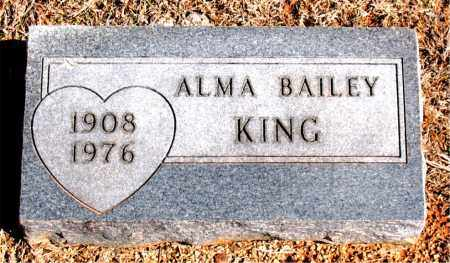 KING, ALMA - Carroll County, Arkansas | ALMA KING - Arkansas Gravestone Photos
