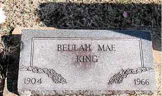 KING, BEULAH MAE - Carroll County, Arkansas | BEULAH MAE KING - Arkansas Gravestone Photos
