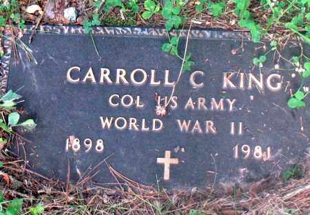 KING (VETERAN WWII), CARROLL CABELLA - Carroll County, Arkansas | CARROLL CABELLA KING (VETERAN WWII) - Arkansas Gravestone Photos