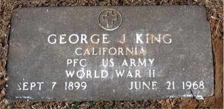 KING (VETERAN WWII), GEORGE J - Carroll County, Arkansas | GEORGE J KING (VETERAN WWII) - Arkansas Gravestone Photos