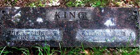 KING, MERLE - Carroll County, Arkansas | MERLE KING - Arkansas Gravestone Photos