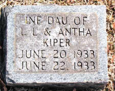 KIPER, INFANT DAUGHTER - Carroll County, Arkansas | INFANT DAUGHTER KIPER - Arkansas Gravestone Photos