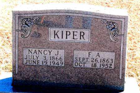 KIPER, F. A. - Carroll County, Arkansas | F. A. KIPER - Arkansas Gravestone Photos