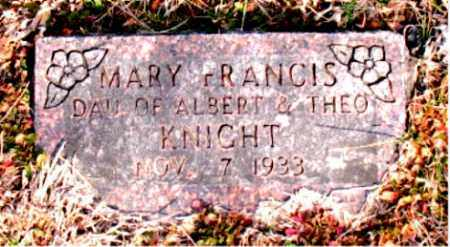 KNIGHT, MARY FRANCIS - Carroll County, Arkansas | MARY FRANCIS KNIGHT - Arkansas Gravestone Photos