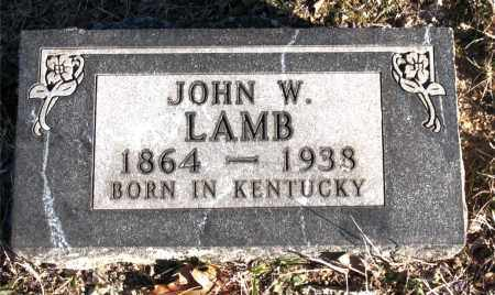 LAMB, JOHN W. - Carroll County, Arkansas | JOHN W. LAMB - Arkansas Gravestone Photos