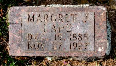 LANE, MARGRET J. - Carroll County, Arkansas | MARGRET J. LANE - Arkansas Gravestone Photos