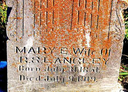 LANGLEY, MARY  E. - Carroll County, Arkansas | MARY  E. LANGLEY - Arkansas Gravestone Photos